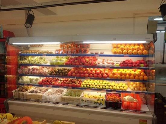 水果客户风幕柜实拍