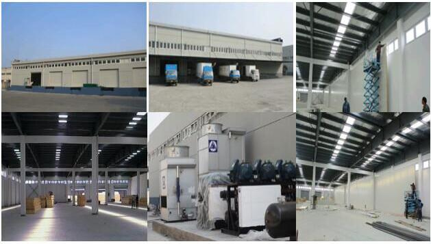 荣庆物流建造20000立方低温冷库工程