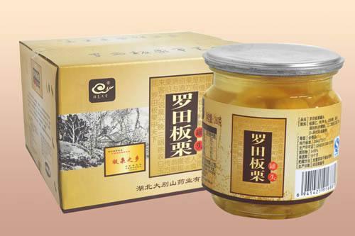湖北罗田食品有限公司生产的板栗爽罐头