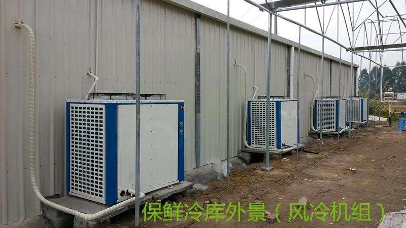 图为广安果蔬保鲜库机组实拍图