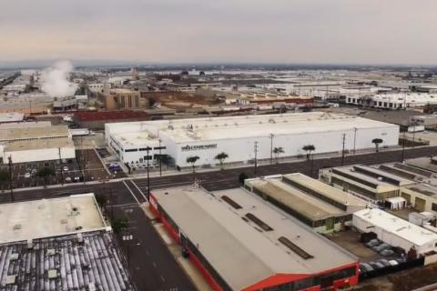 美国万吨级大型冷库内部实拍视频