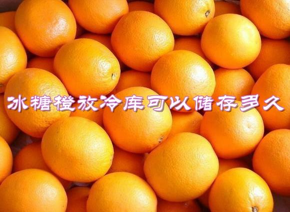 冰糖橙放冷库可以储存多久?温度要求是多少?