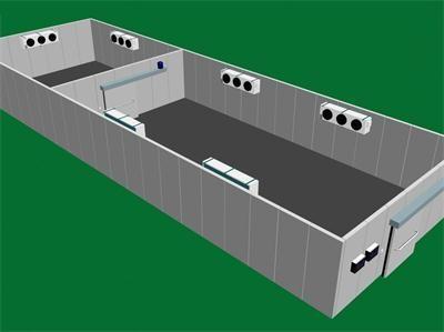 图为莼菜速冻冷库3D设计图